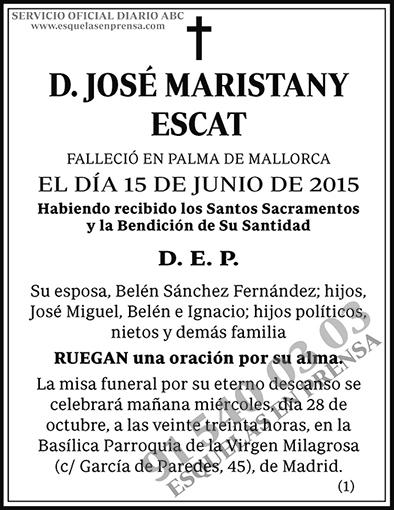 José Maristany Escat